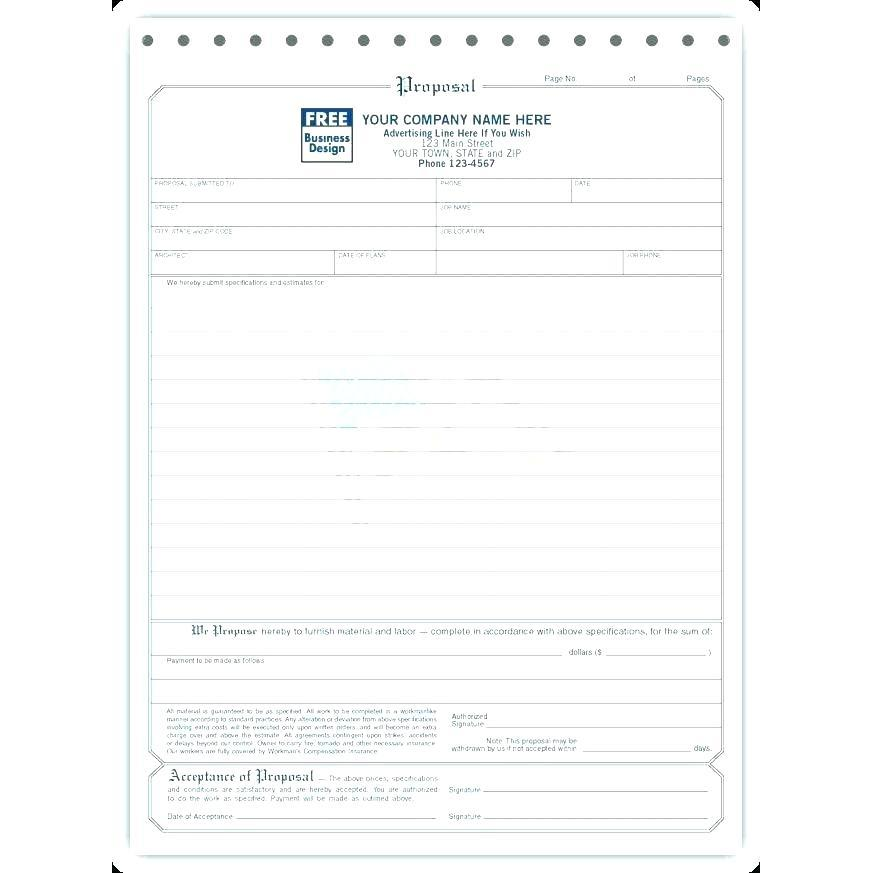 Contractors Bid Sheet Template