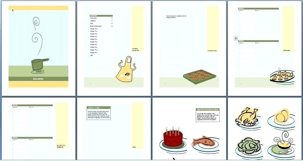 Cookbook Templates Microsoft Word