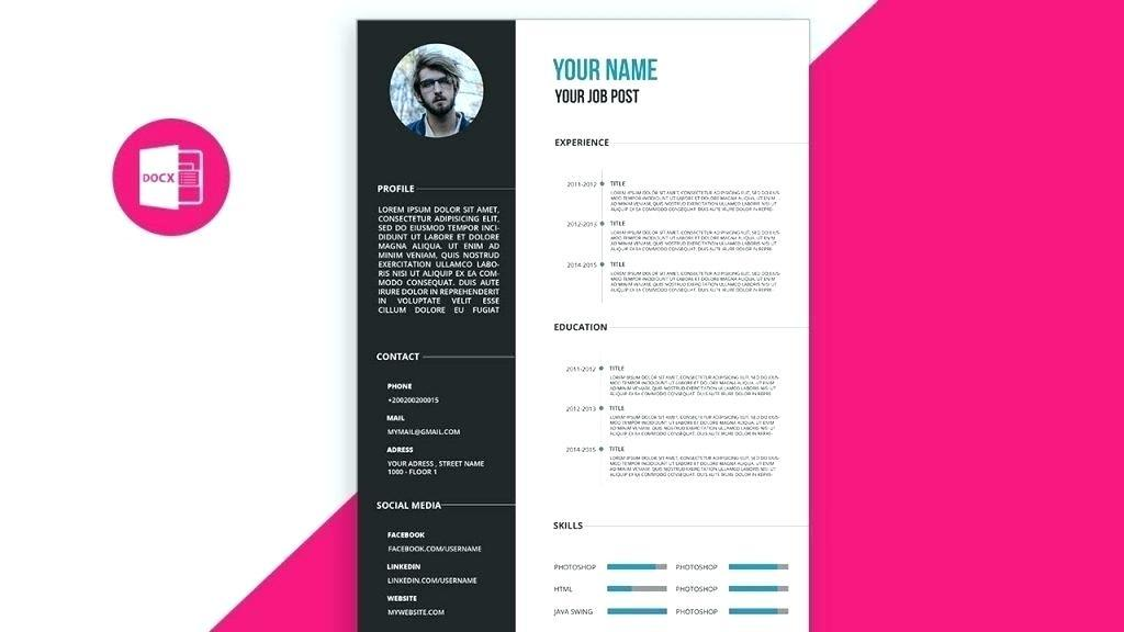 Cool Cv Templates For Word