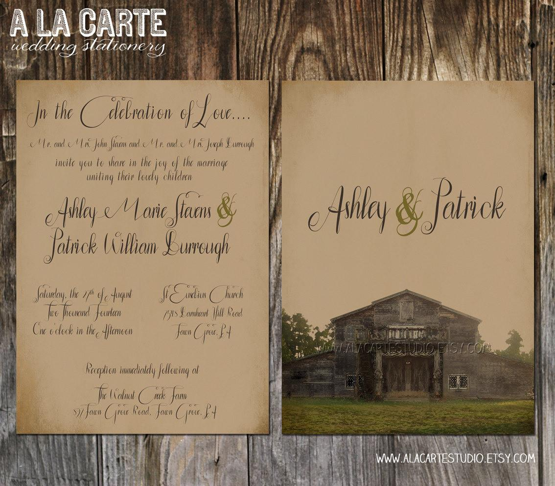 Country Western Invitation Templates