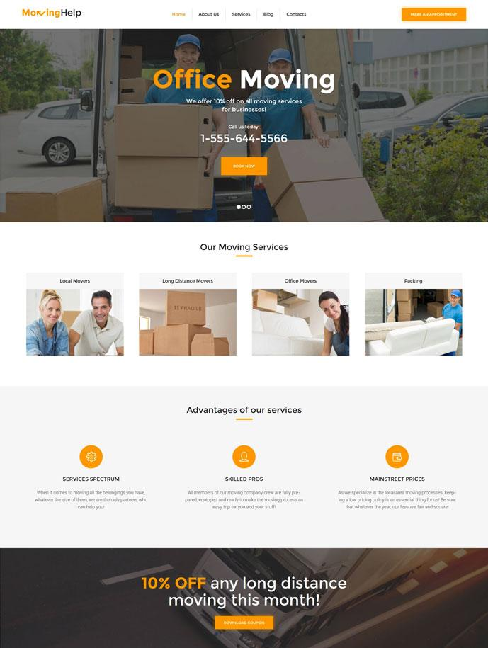 Courier Website Template