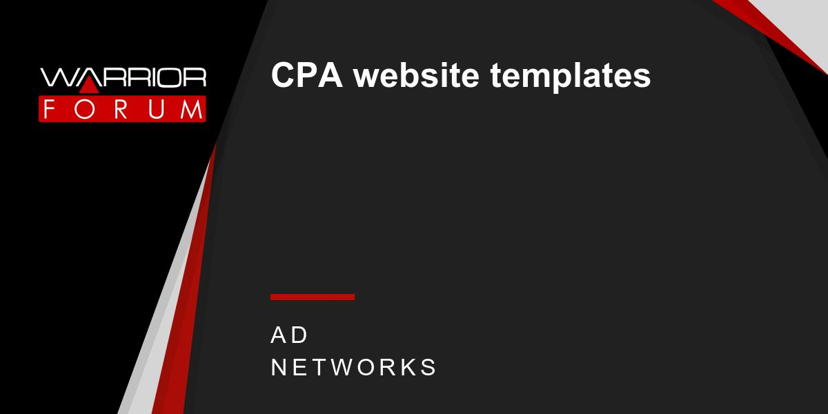 Cpa Website Templates