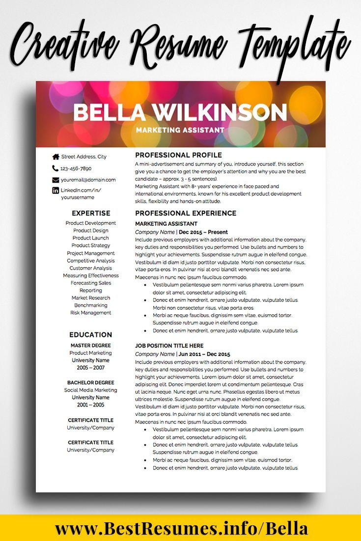 Creative Marketing Resume Templates