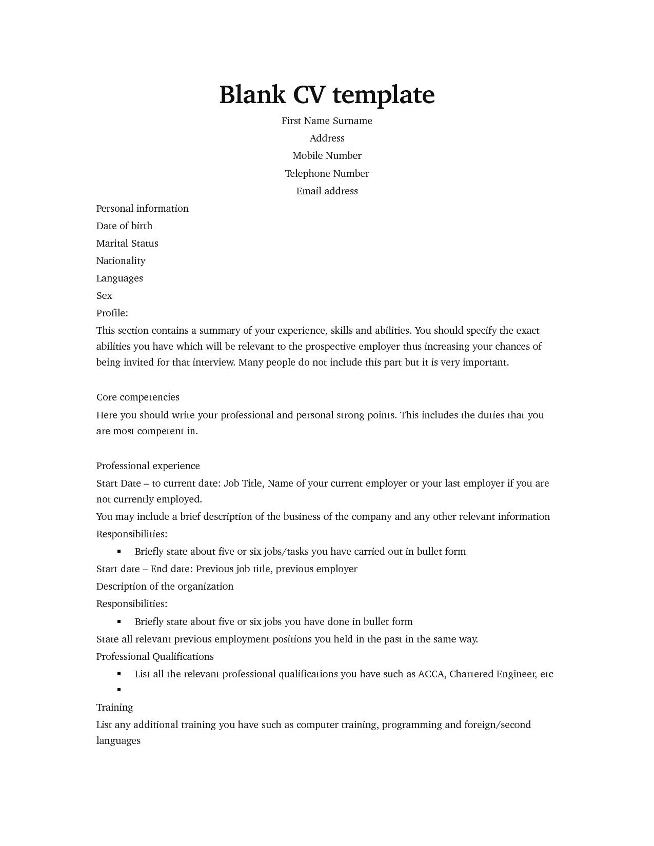 Curriculum Vitae Templates For Graduate Students
