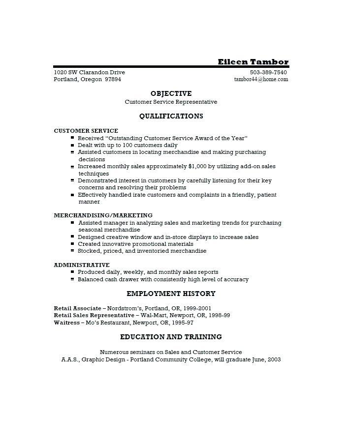 Customer Service Cv Template Download