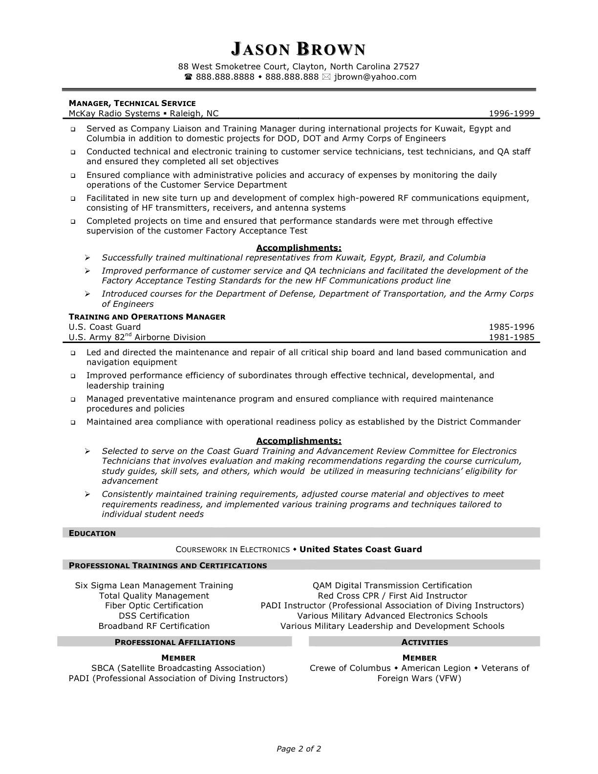 Customer Service Cv Template Nz