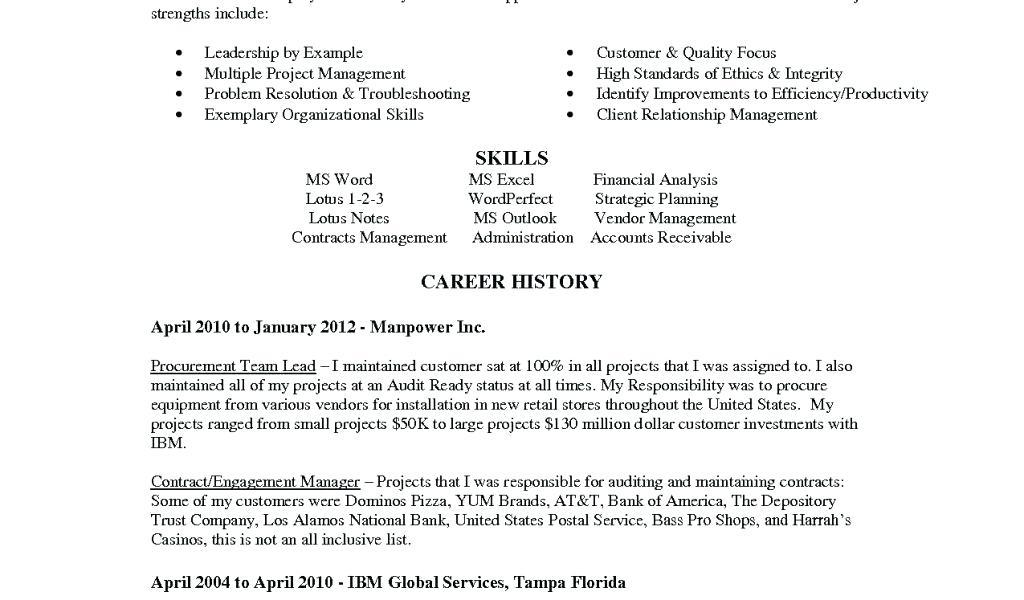 Customer Service Cv Template Word