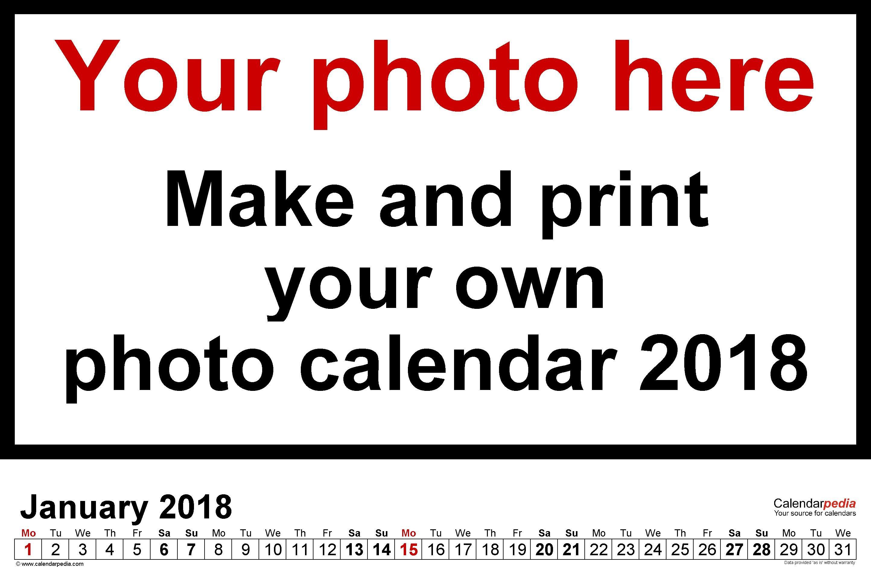 Customized Calendar Templates