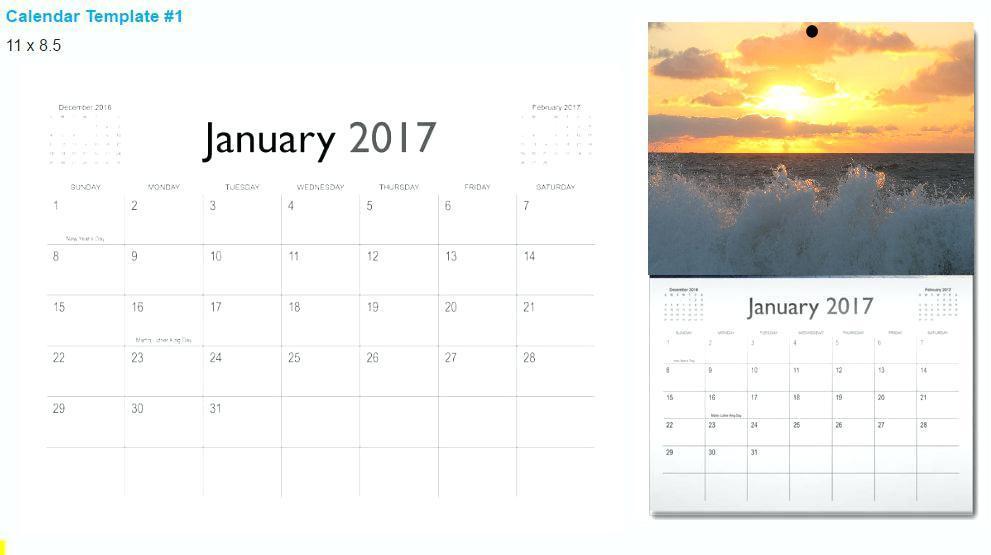 Customized Photo Calendar Template