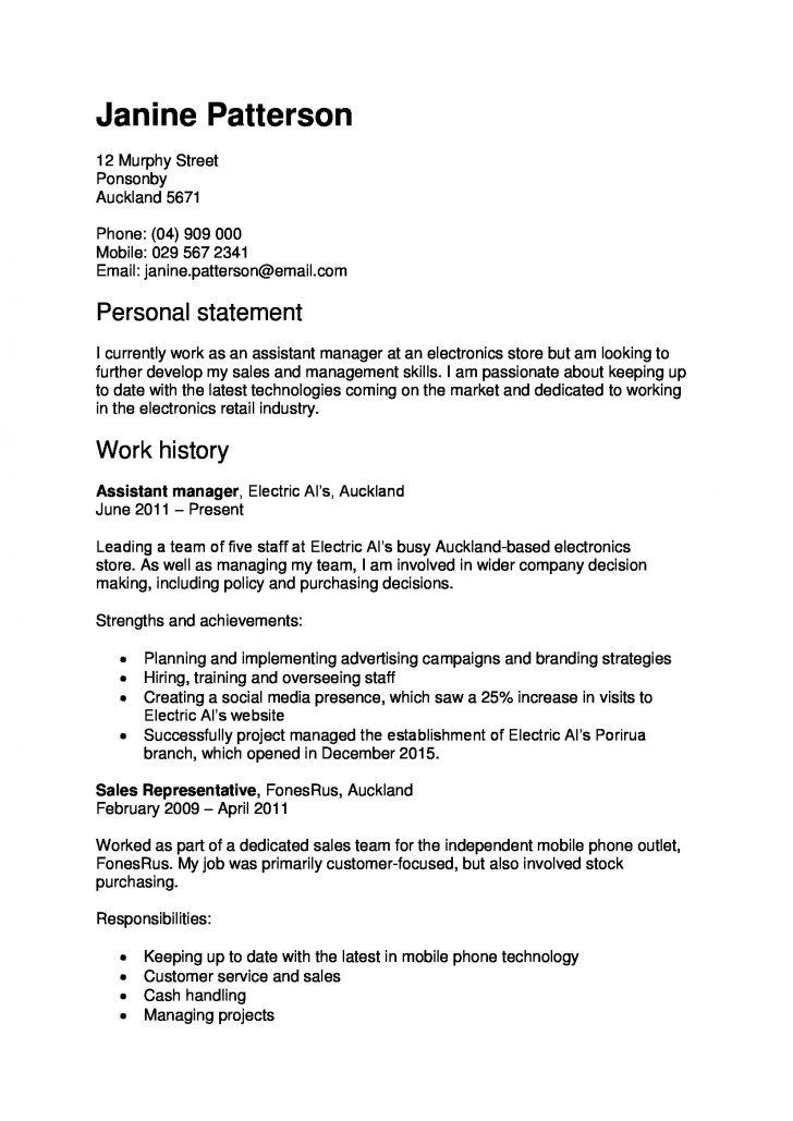 Cv Template For Electrician