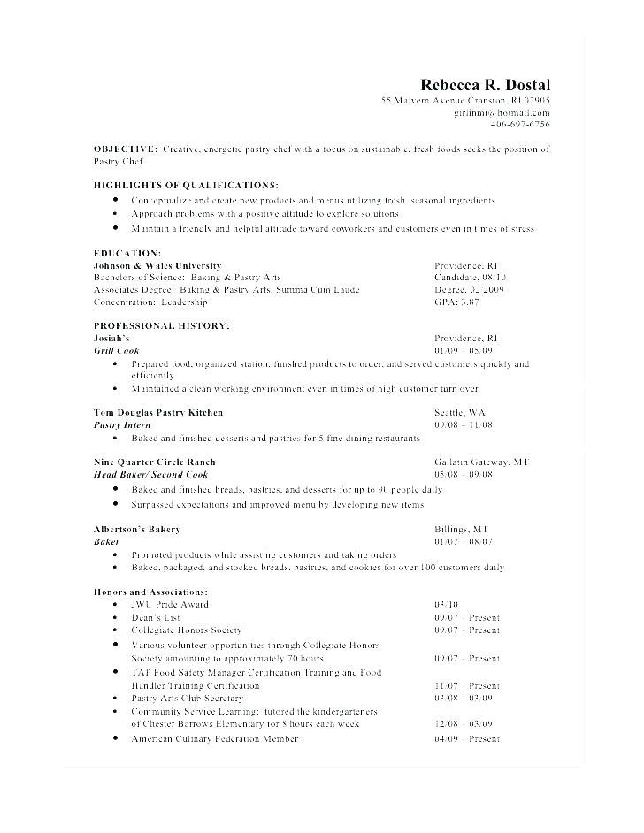 Cv Template For Head Chef