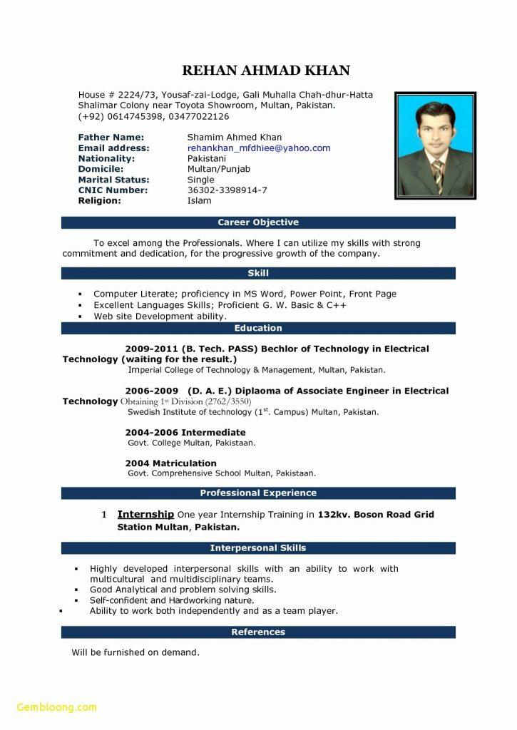 Cv Templates Free Download Word Document Bd