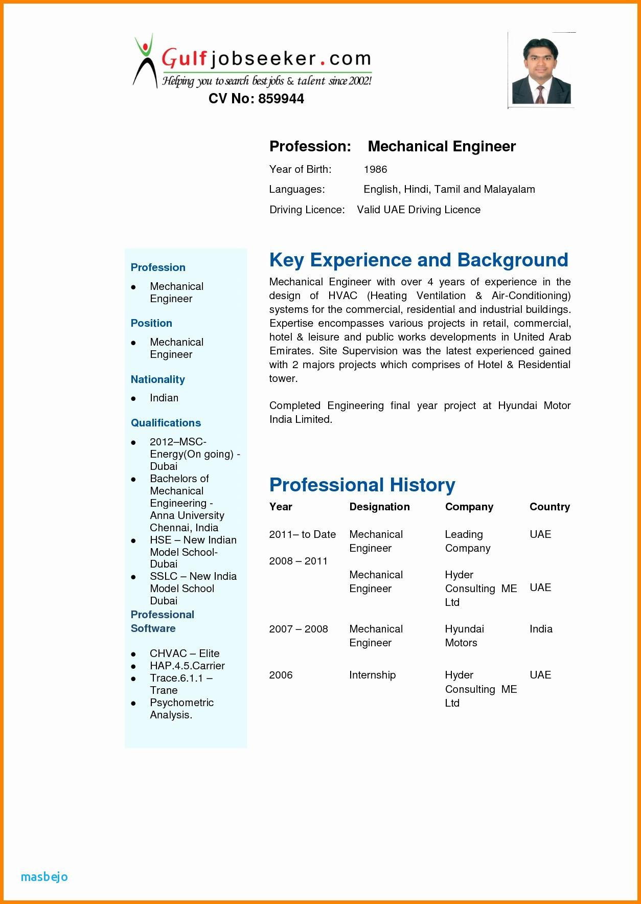 Cv Templates Free Download Word Document India