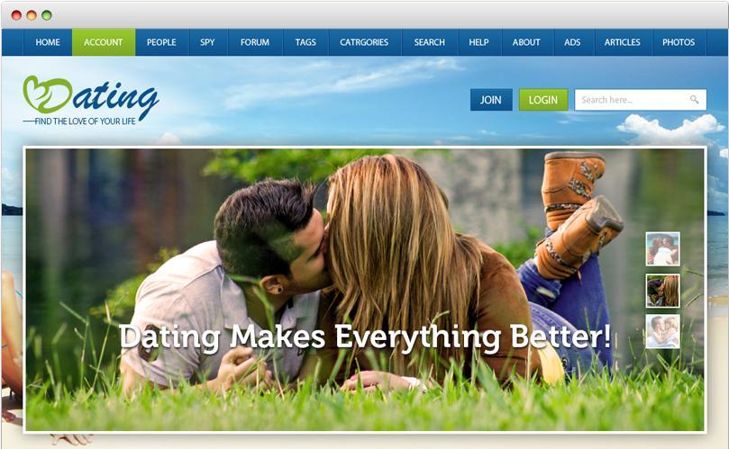 Dating Website Templates Responsive