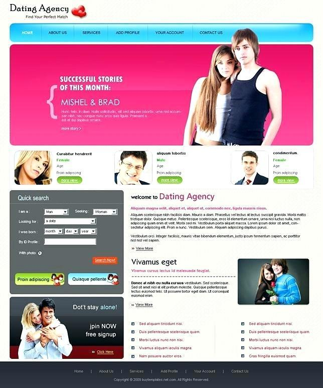 gratis dating site profiel template