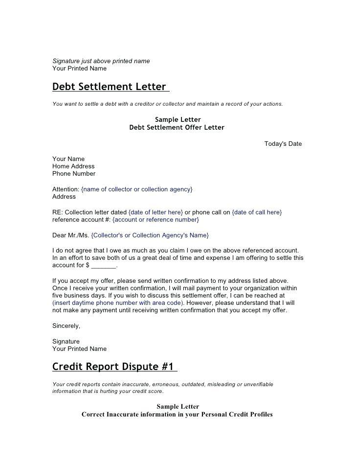 Debt Collector Dispute Letter Template