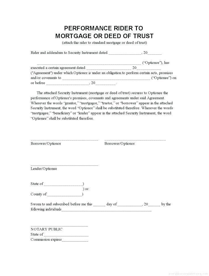 Deed Of Trust Agreement Template