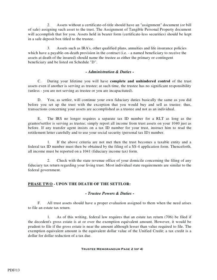 Deed Of Trust Template Free Uk