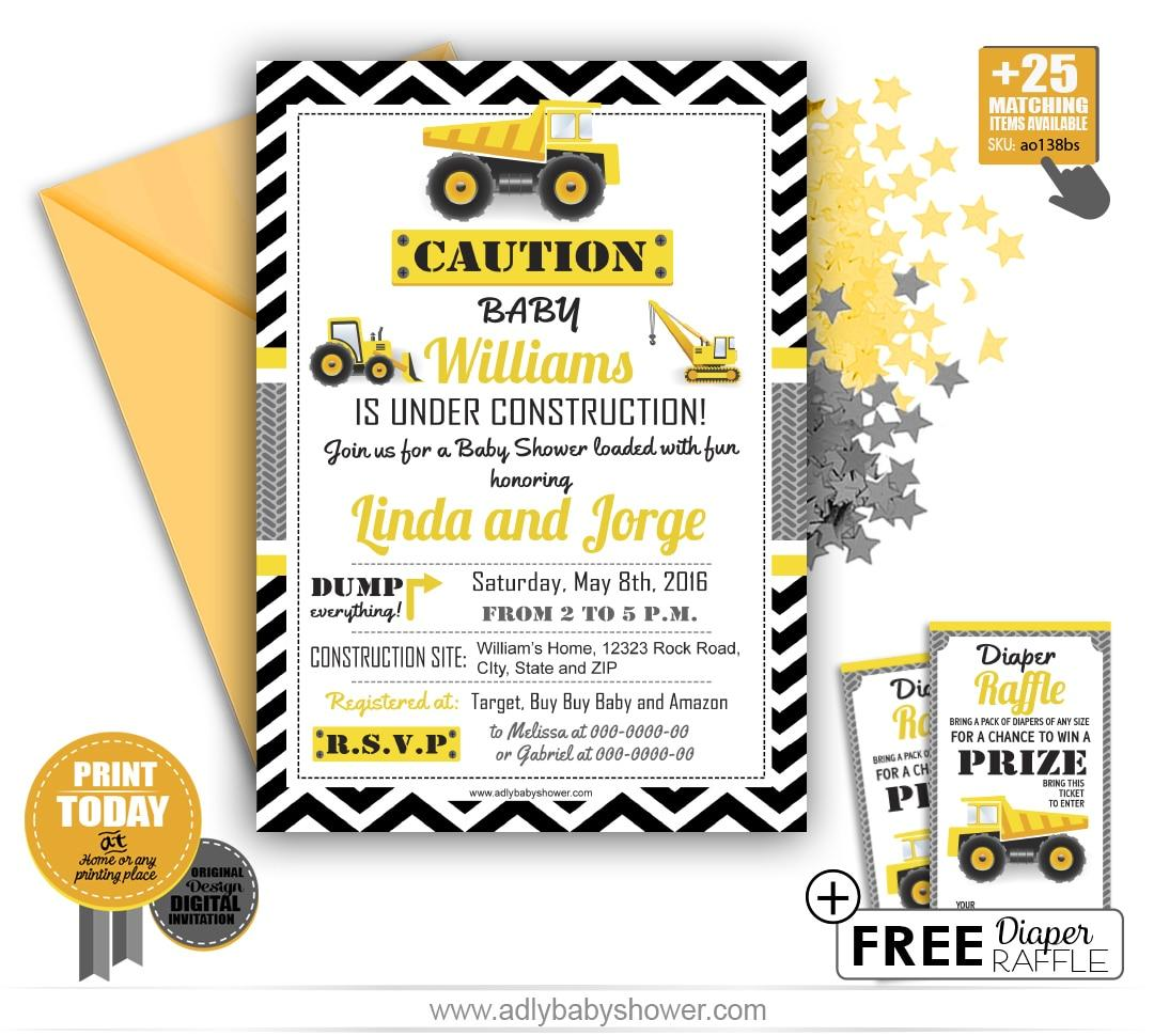 Diaper Shower Invitation Template Free