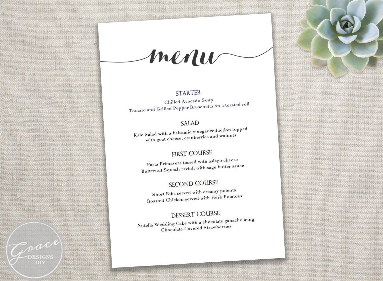 Dinner Party Menu Design Templates
