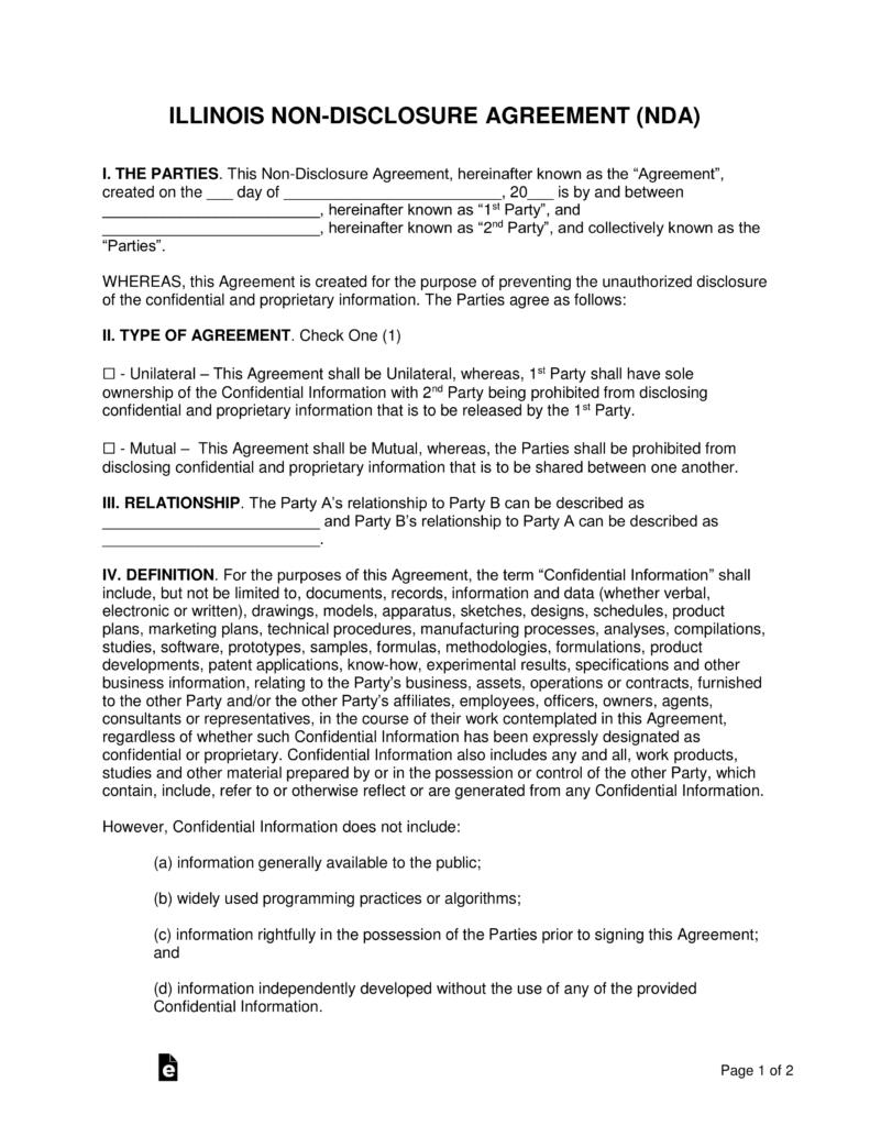 Disclosure Agreement Template