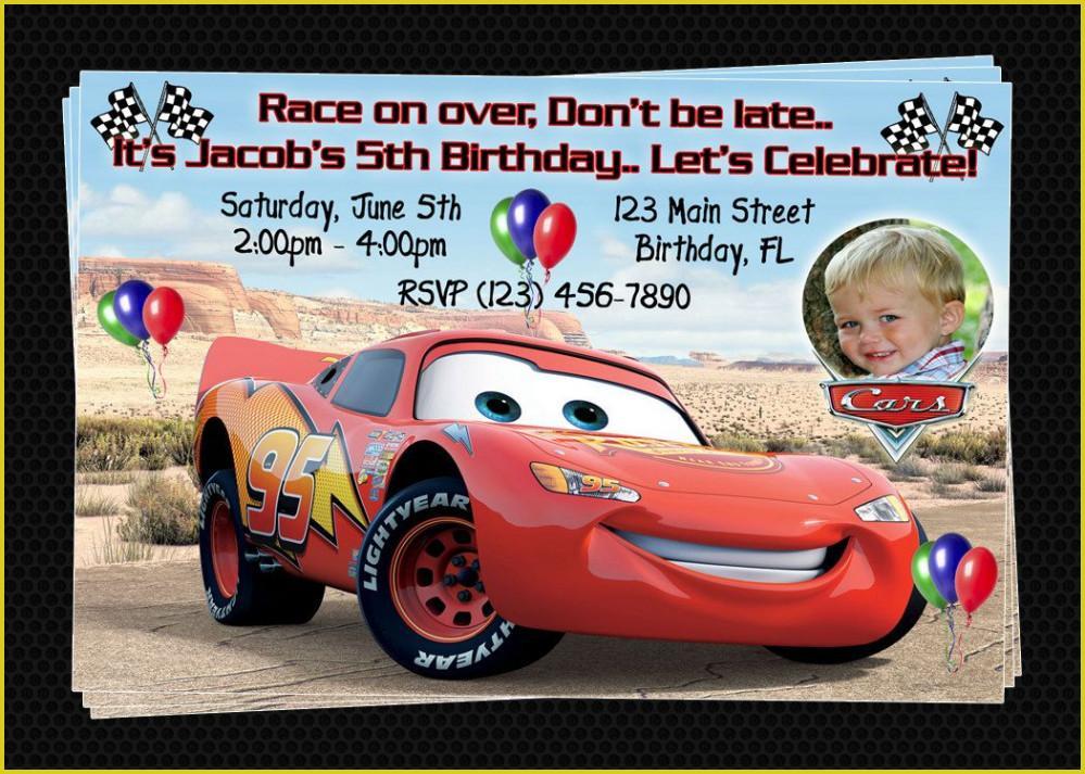 Cars Birthday Party Invitation Templates Free