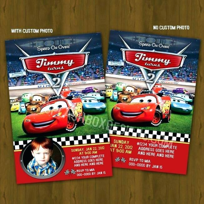 Disney Cars Birthday Party Invitations Templates Templates 53421