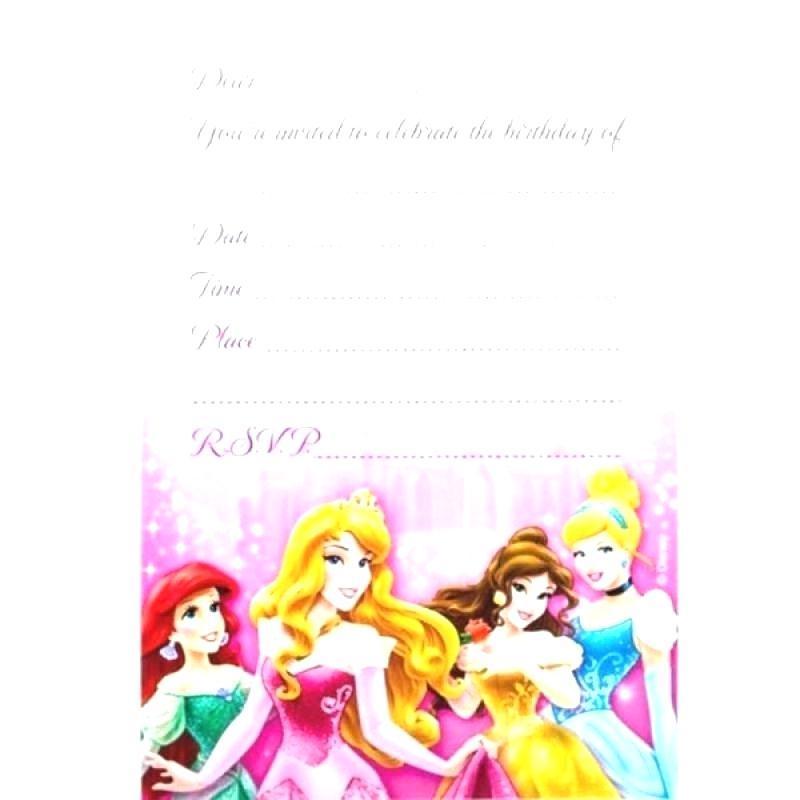 Disney Princess Birthday Invitation Templates Free