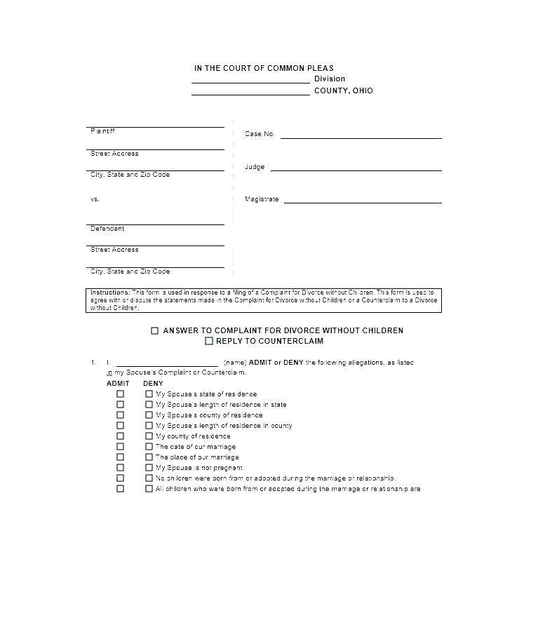 Divorce Agreement Template Bc