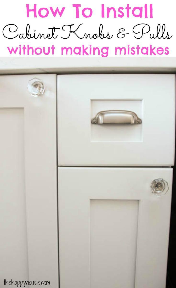 Diy Cabinet Door Handle Jig