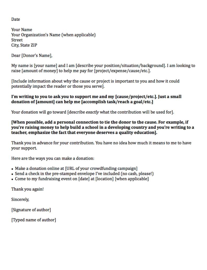 Donation Letters Templates