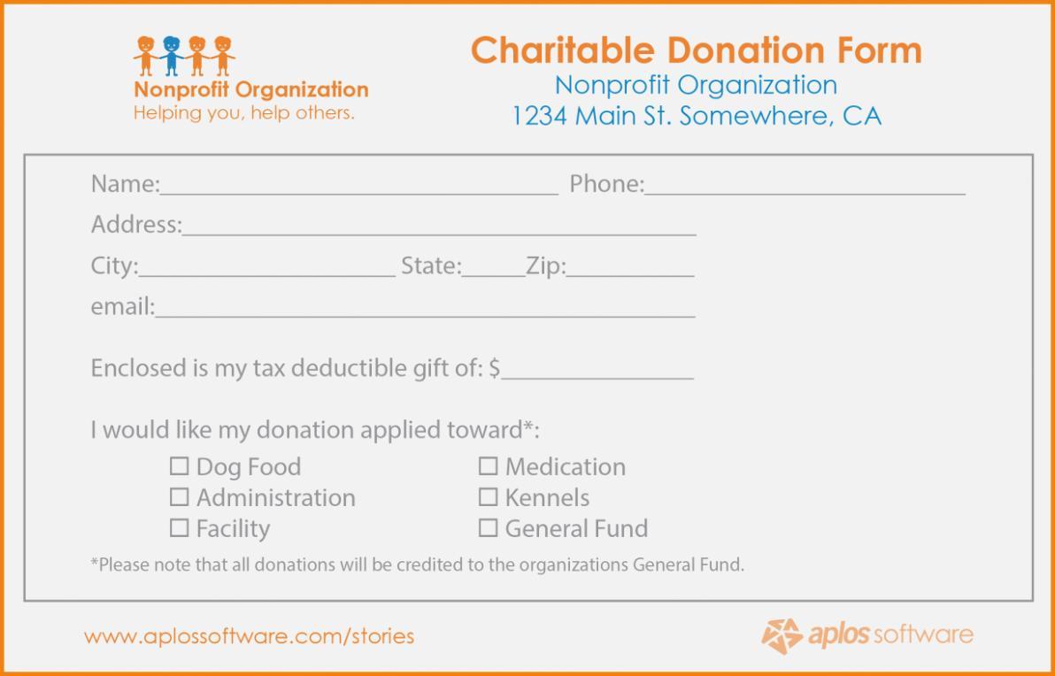 Donation Pledge Form Template