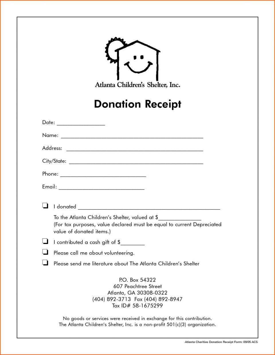 Donation Receipt Template Australia
