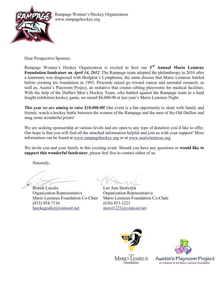 Donation Request Letter Sample For Sports