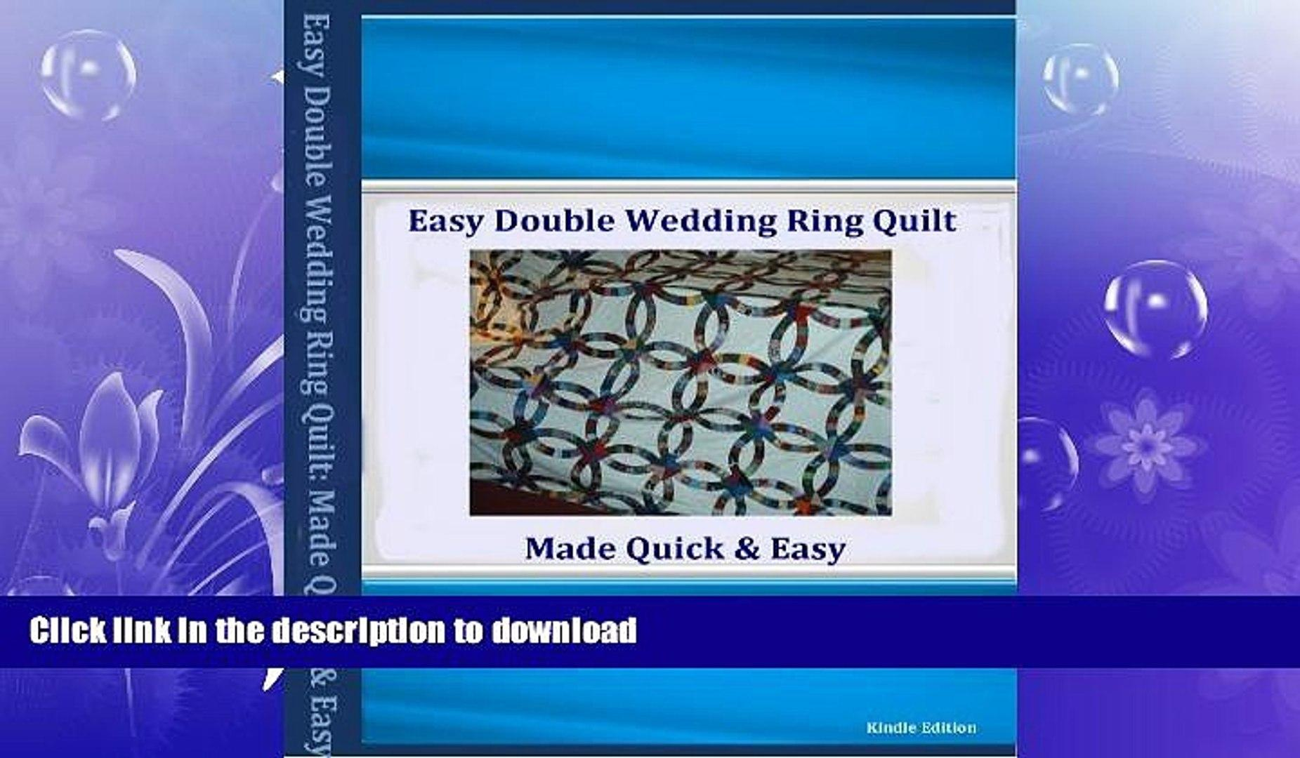 Double Wedding Ring Quilt Pattern Video