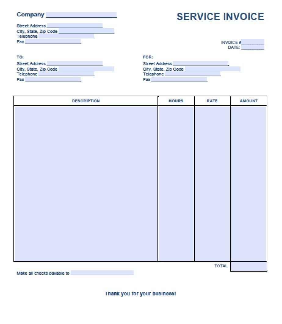 Download Free Invoice Template For Word