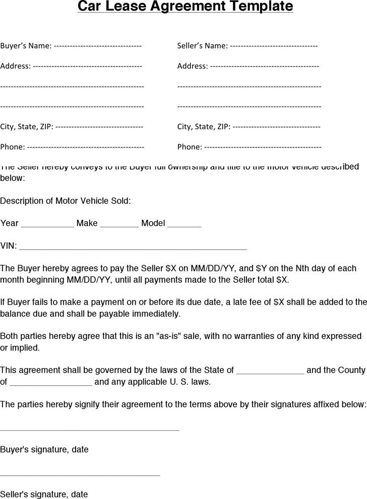 Download Lease Agreement Form Free
