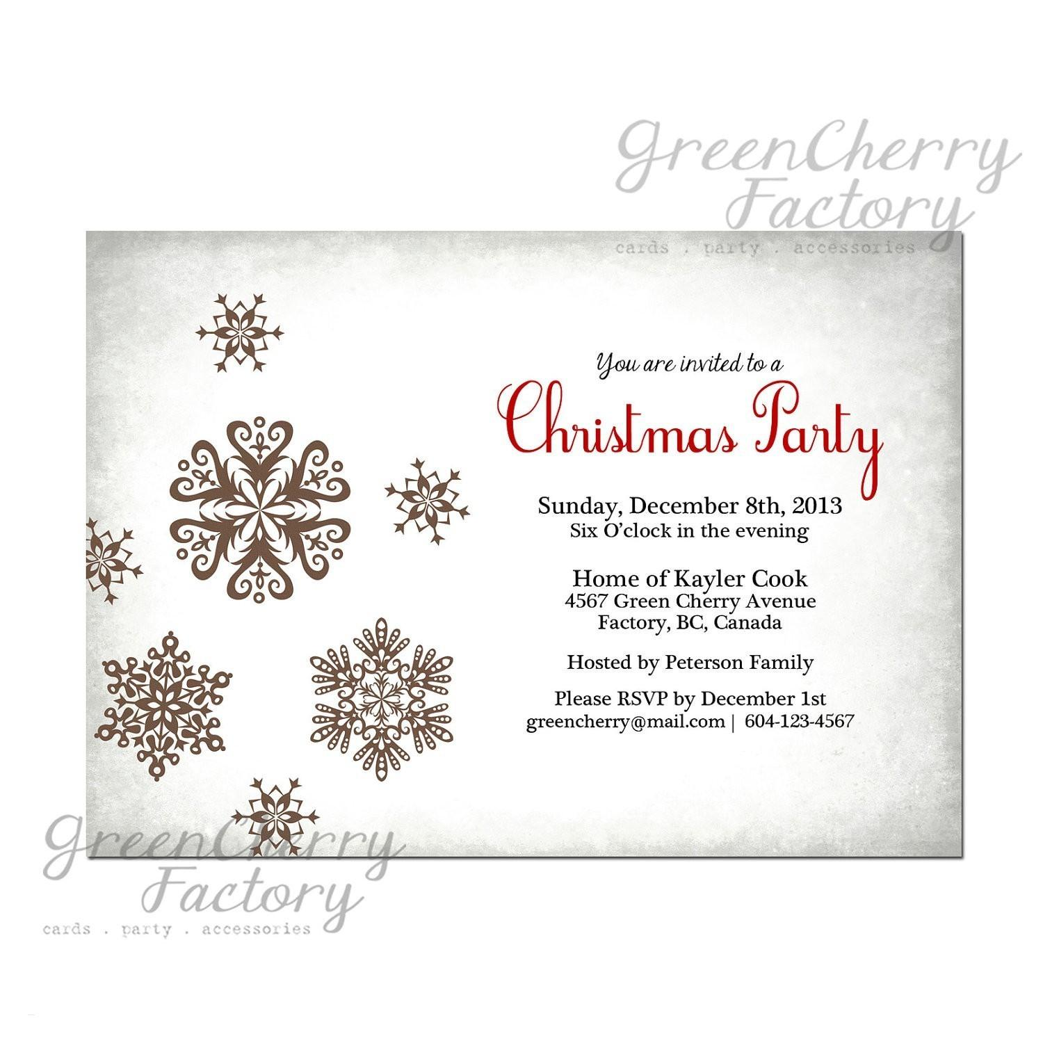 Downloadable Christmas Invitation Templates