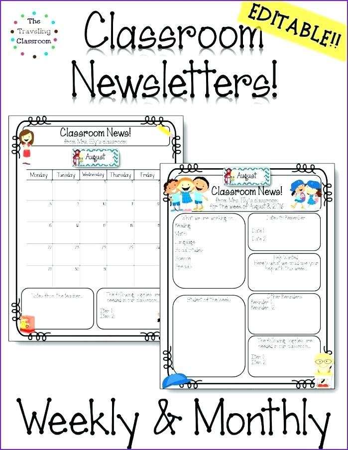 Downloadable Classroom Newsletter Templates