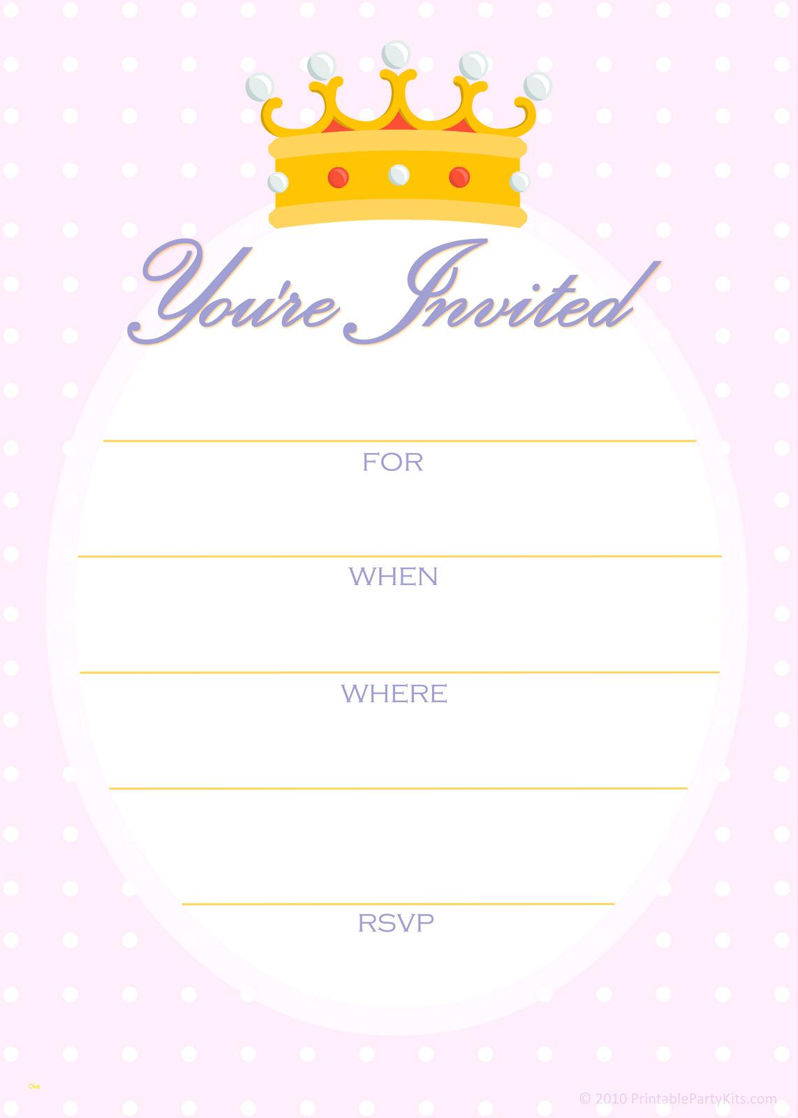Downloadable Free Unicorn Invitation Template