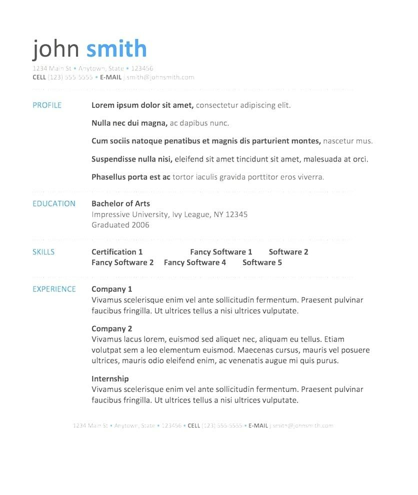 Downloadable Resume Templates Word 2018