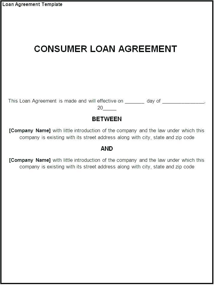 Draft Loan Agreement Template Uk