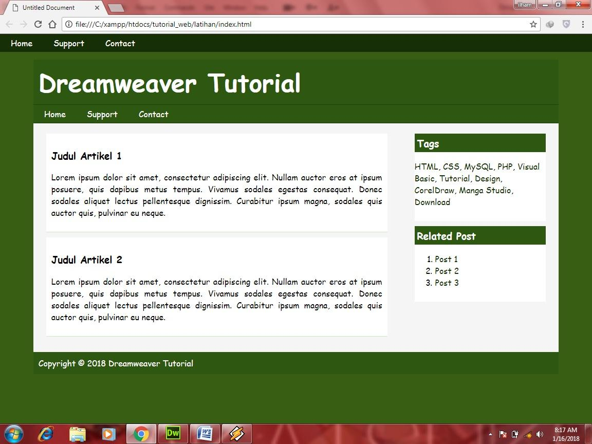Dreamweaver Responsive Template Tutorial