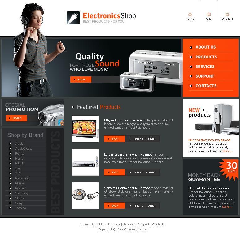 Dreamweaver Website Templates Html