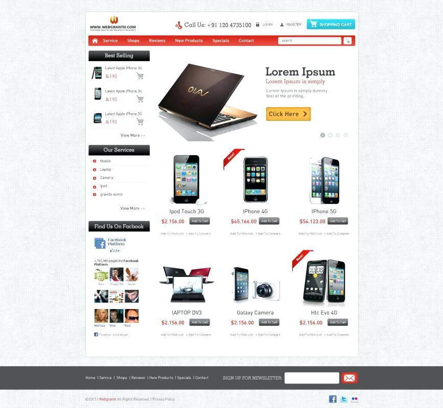 E Commerce Websites Templates Free Download