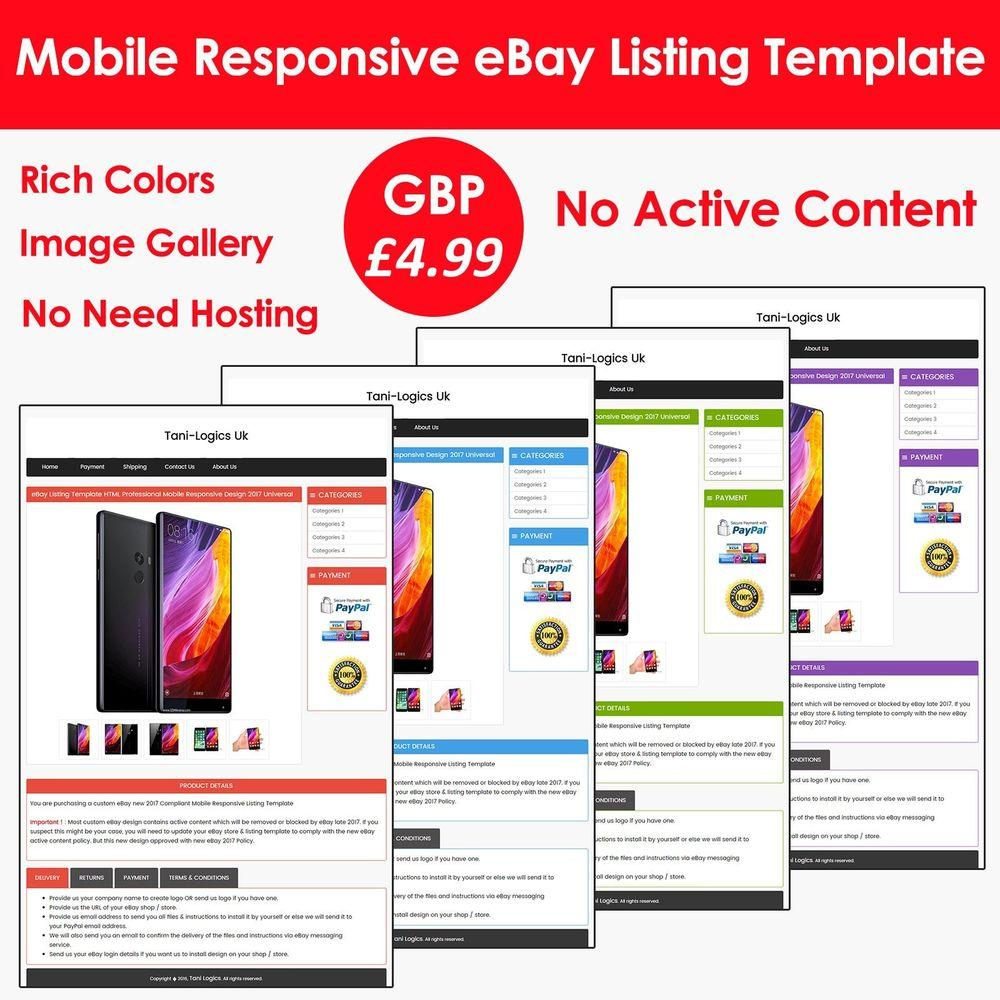 Ebay Listing Template 2017
