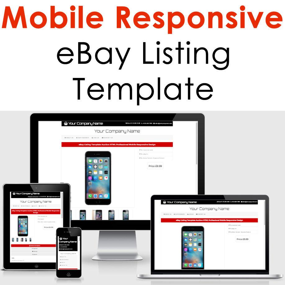 Ebay Responsive Listing Template