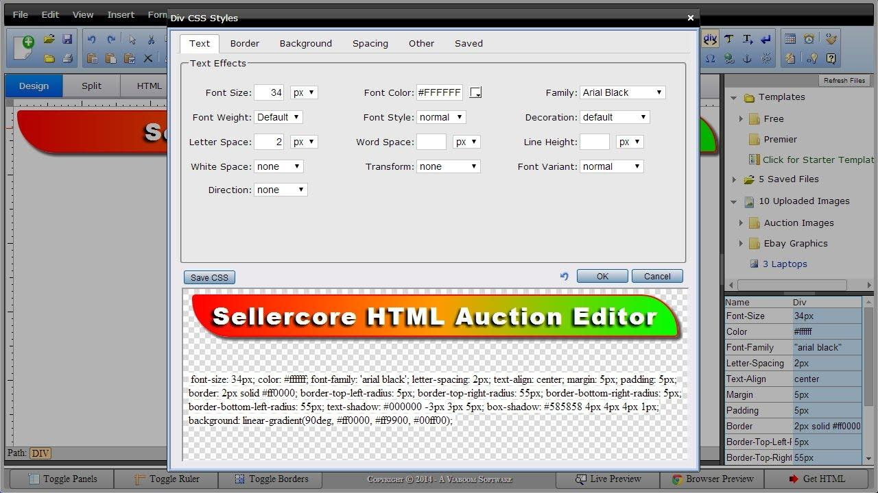 Ebay Template Software Free