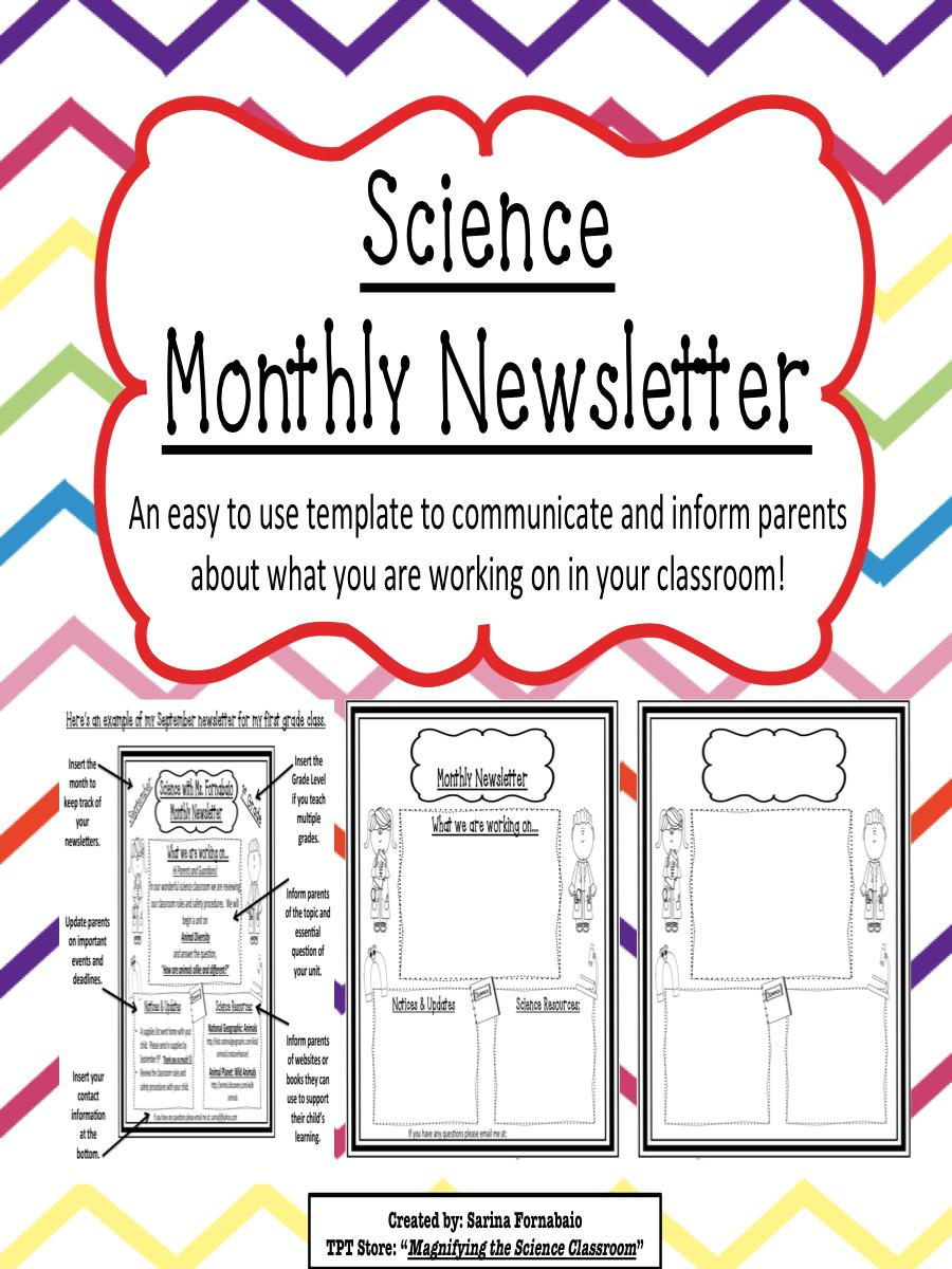 Editable Monthly Newsletter Newsletter Templates