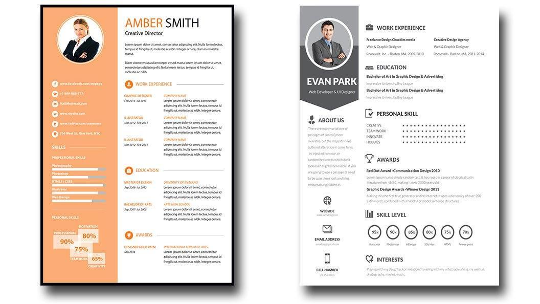 Editable Resume Templates Word